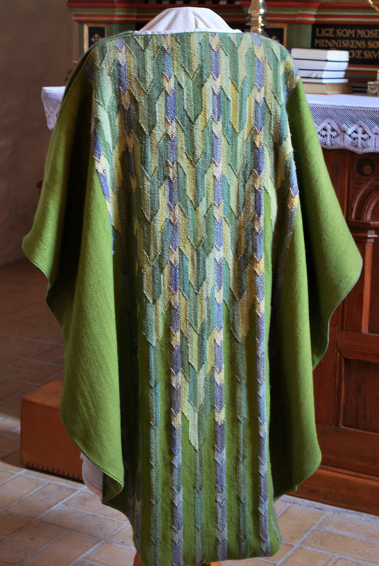 Grøn messehagel til Nr. Nissum kirke