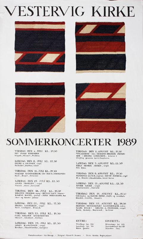 Plakat for koncerter i Vestervig Kirke